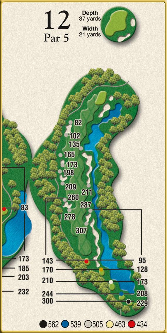 Crow Creek Golf Hole 12