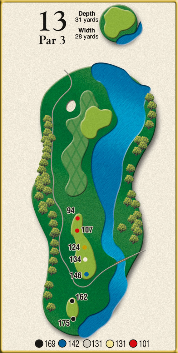 Crow Creek Golf Hole 13