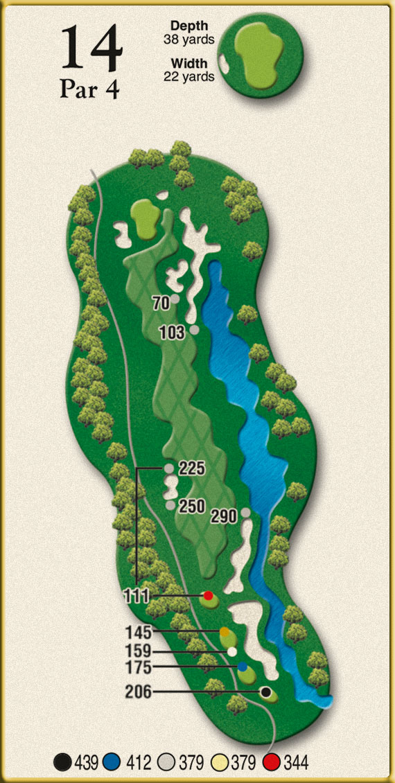 Crow Creek Golf Hole 14