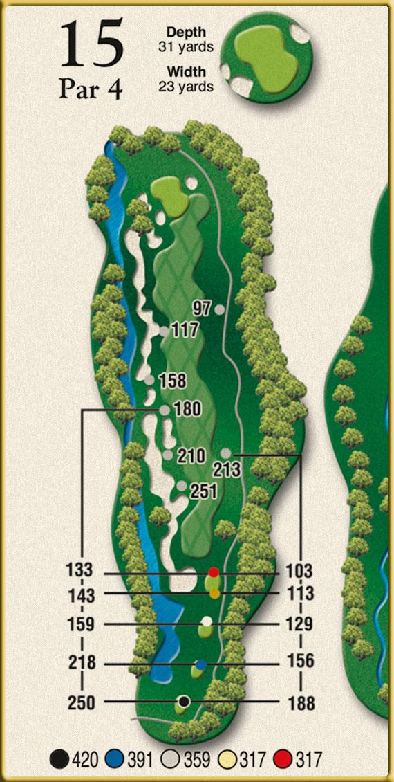 Crow Creek Golf Hole 15