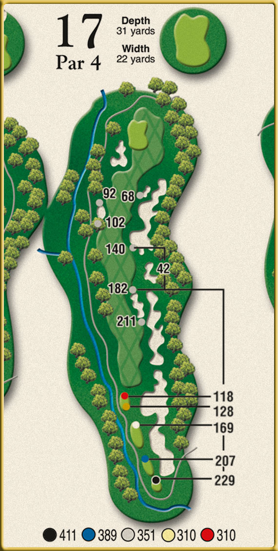 Crow Creek Golf Hole 17