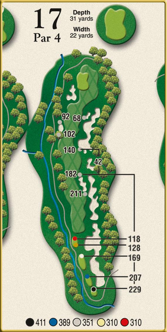 Crow Creek Golf Hole 17