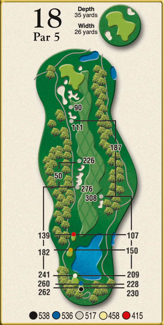 Crow Creek Golf Hole 18