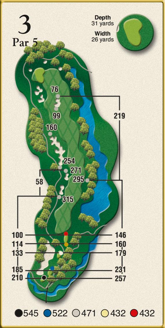 Crow Creek Golf Hole 3