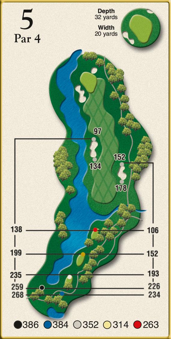 Crow Creek Golf Hole 5
