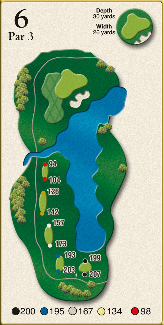Crow Creek Golf Hole 6
