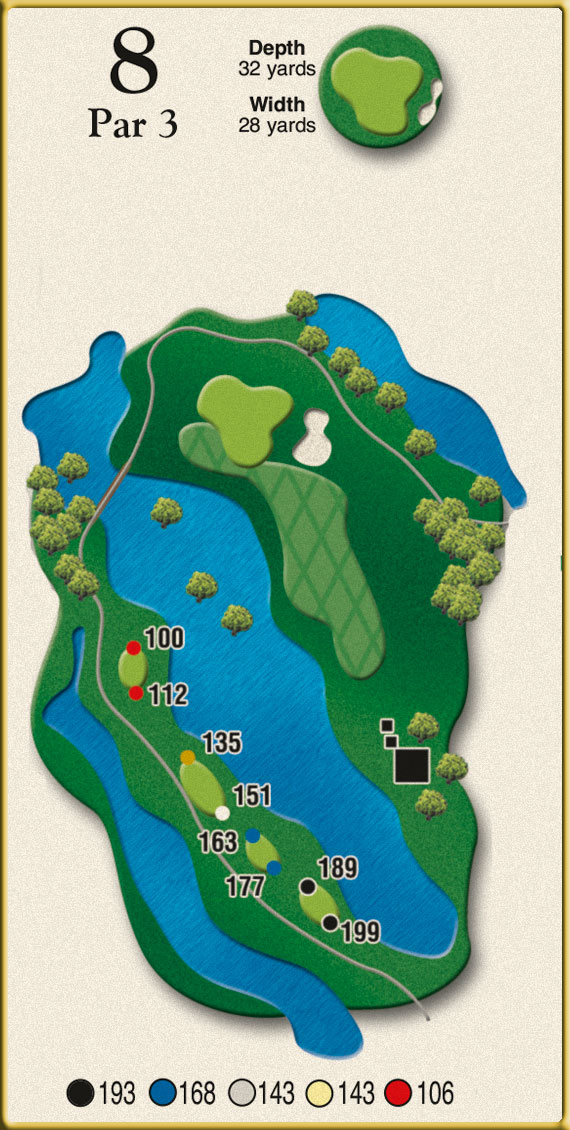 Crow Creek Golf Hole 8