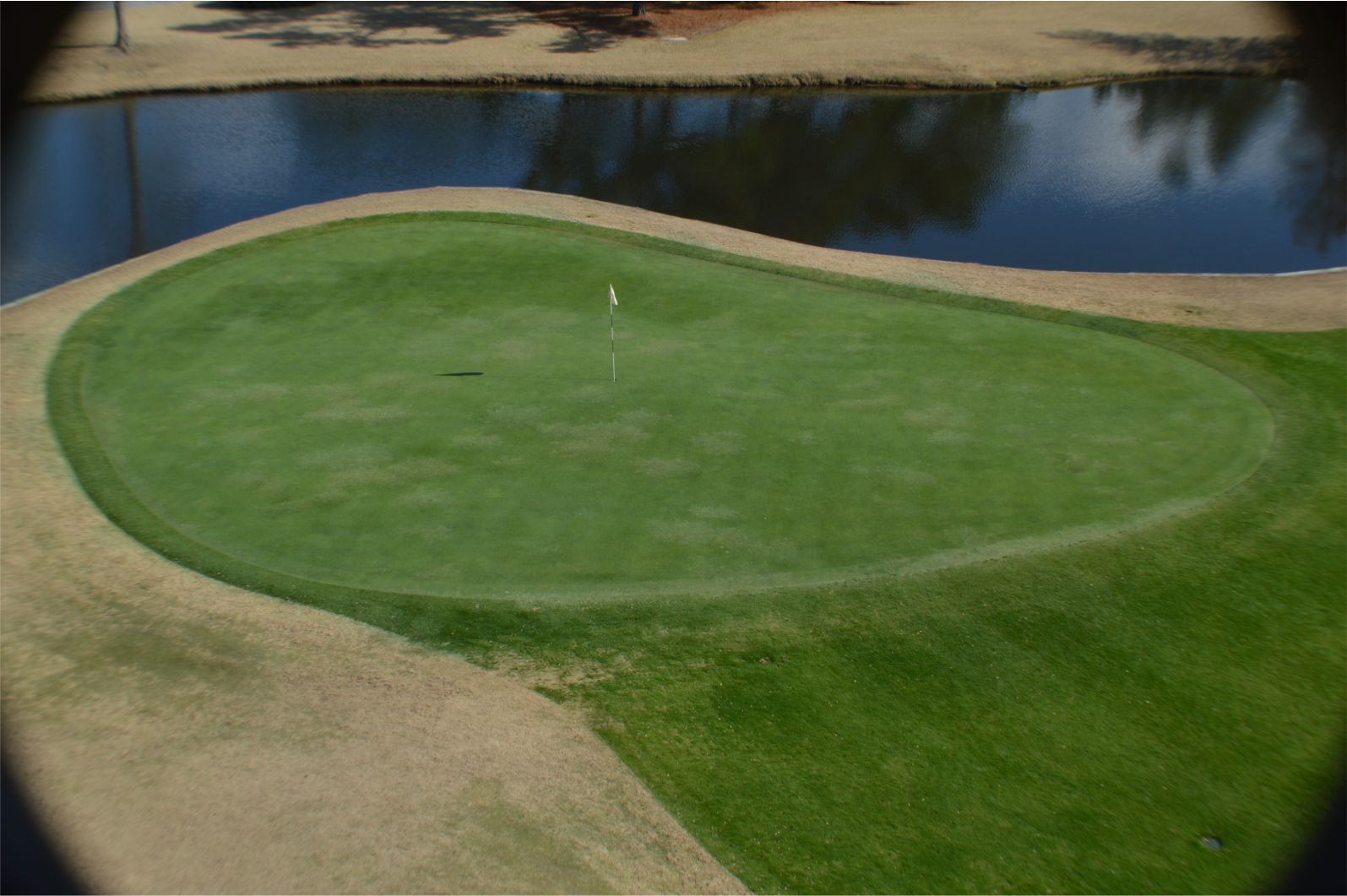 Crow Creek Golf Course Number 13 Green