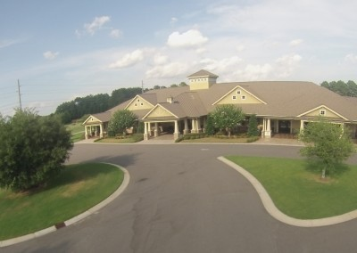 Crow Creek Clubhouse Aerial Front 1