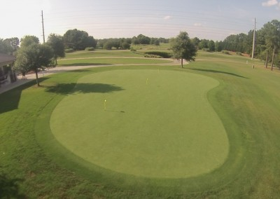 Crow Creek Putting Green Aerial 1